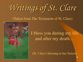 Writings of St. Clare