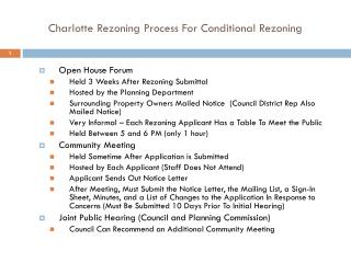 Charlotte Rezoning Process For Conditional Rezoning
