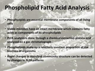Phospholipid Fatty Acid Analysis