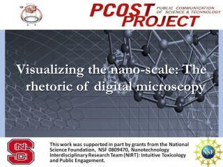 Visualizing the  nano -scale: The rhetoric of digital microscopy