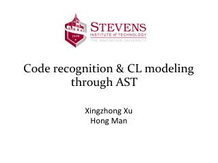 Code recognition & CL modeling through AST
