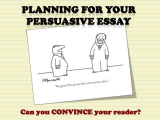 Can you CONVINCE your reader?