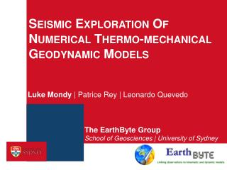 Seismic Exploration Of Numerical Thermo-mechanical Geodynamic Models