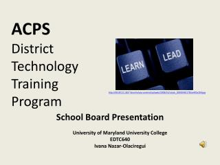ACPS District Technology Training Program