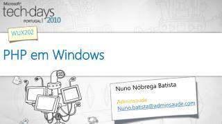 PHP em Windows