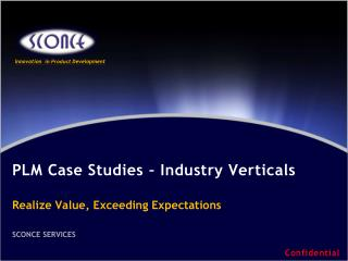 PLM Case  Studies  –  Industry Verticals