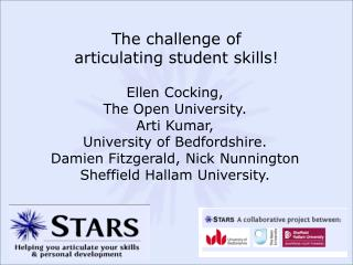 The challenge of  articulating student skills!