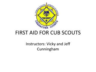 FIRST AID FOR CUB SCOUTS