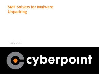 SMT Solvers for Malware Unpacking