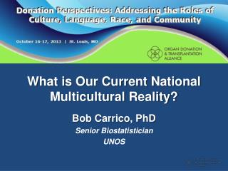 What is Our Current National Multicultural Reality?