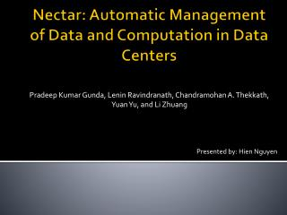 Nectar: Automatic Management of Data and Computation in Data Centers