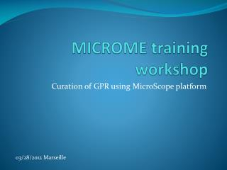 MICROME training workshop