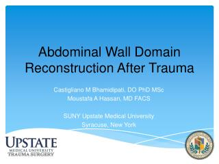 Abdominal Wall Domain Reconstruction After Trauma