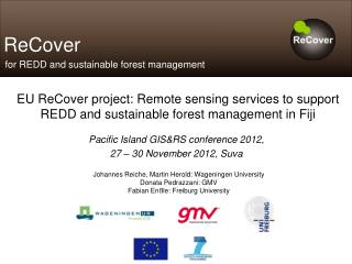 Pacific Island GIS&RS conference 2012, 27 – 30 November 2012, Suva