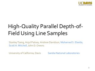 High-Quality Parallel Depth-of-Field Using Line Samples