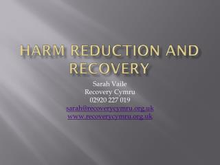 Harm reduction and recovery