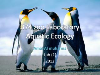 374 zoo Laboratory Aquatic  E cology