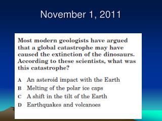 November 1, 2011