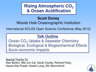 Rising Atmospheric CO 2  & Ocean Acidification