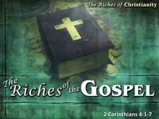 2 Corinthians  4:1-7