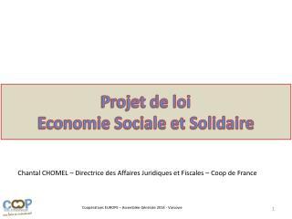 Projet de loi Economie Sociale et Solidaire