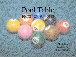 Pool Table EECS 125, Fall 2012