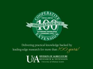 The Cooperative Extension Service