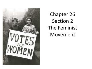 Chapter 26 Section 2 The Feminist Movement