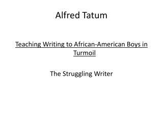 Alfred Tatum
