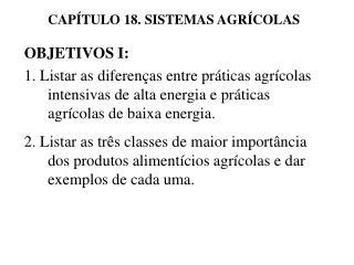 CAP TULO 18. SISTEMAS AGR COLAS