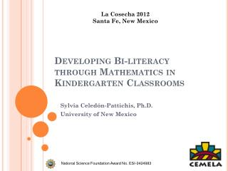 Developing Bi-literacy through Mathematics in Kindergarten Classrooms