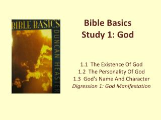 Bible Basics Study 1: God