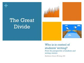 Who  is in control of students' writing?  From the perspective of students and writing centers