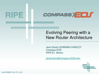 Evolving Peering with a New Router Architecture
