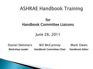ASHRAE Handbook Training