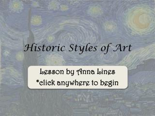 Historic Styles of Art
