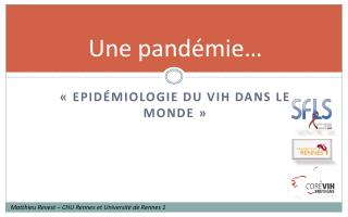 Une pand�mie�