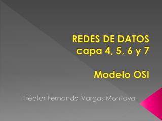 REDES DE DATOS capa 4, 5, 6 y 7 Modelo OSI