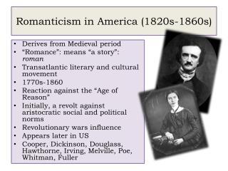 Romanticism in America (1820s-1860s)