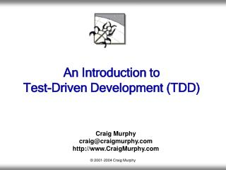 An Introduction to Test-Driven Development TDD