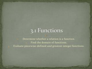 3.1 Functions