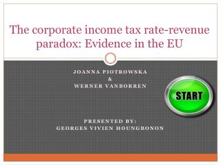 The corporate income tax rate-revenue paradox: Evidence in the EU