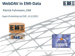 WebDAV  in EMI-Data