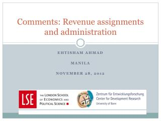 Comments: Revenue assignments and administration