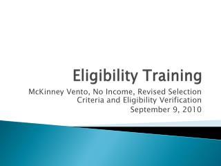 Eligibility Training
