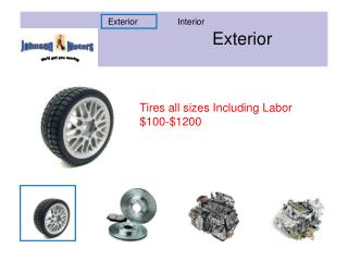 Tires all sizes Including Labor $100-$1200