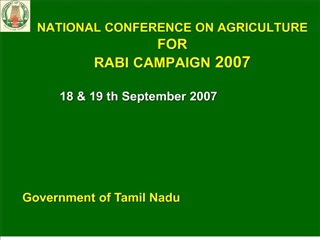 NATIONAL CONFERENCE ON AGRICULTURE FOR RABI CAMPAIGN 2007