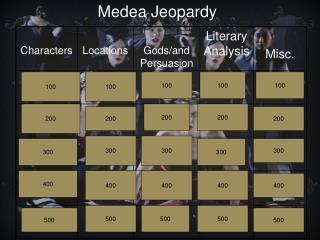 Medea Jeopardy