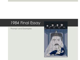 1984  Final Essay