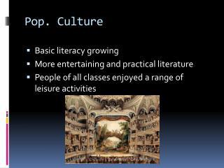 Pop. Culture